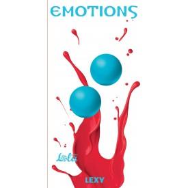 Голубые вагинальные шарики без сцепки Emotions Lexy Medium